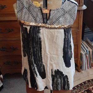 Floreat decorated boho sleeveless top